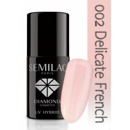 Lakier hybrydowy Semilac 002 Delicate French- 7 ml