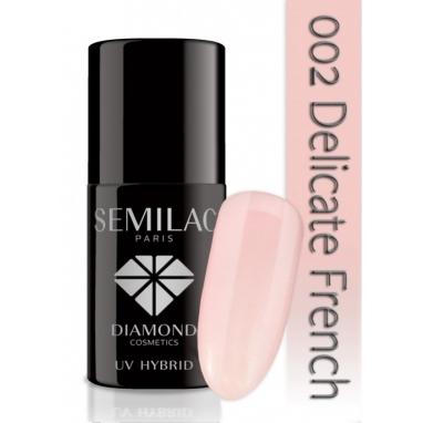Lakier hybrydowy Semilac 002 Delicate French - Transparentny 7 ml