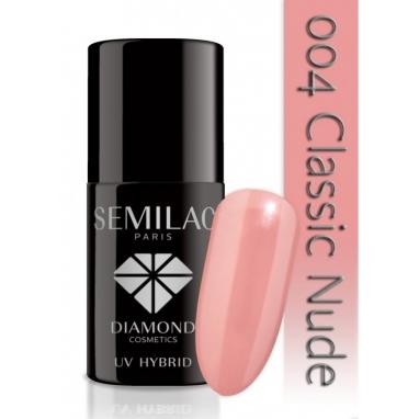 Lakier hybrydowy Semilac 004 Classic Nude - 7 ml