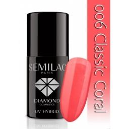 Lakier hybrydowy Semilac 006 Classic Coral - 7 ml