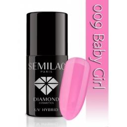 Lakier hybrydowy Semilac 009 Baby Girl - 7 ml