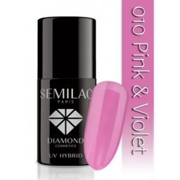 Lakier hybrydowy Semilac 010 Pink & Violet - 7 ml