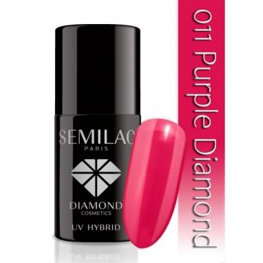 Lakier hybrydowy Semilac 011 Purple Diamond - 7 ml