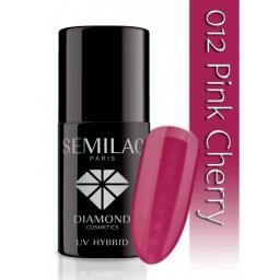 Lakier hybrydowy Semilac 012 Pink Cherry - 7 ml
