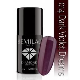Lakier hybrydowy Semilac 014 Dark Violet Dreams - 7 ml