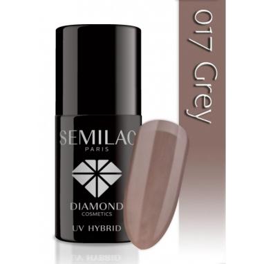 Lakier hybrydowy Semilac 017 Grey - 7 ml