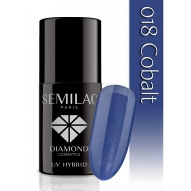 Lakier hybrydowy Semilac 018 Cobalt - 7 ml