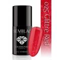 Lakier hybrydowy Semilac 025 Glitter Red - 7 ml