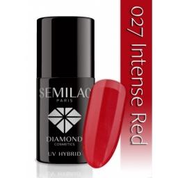 Lakier hybrydowy Semilac 027 Intense Red - 7 ml
