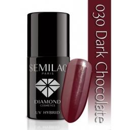 Lakier hybrydowy Semilac 030 Dark Chocolate - 7 ml