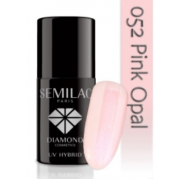 Lakier hybrydowy Semilac 052 Pink Opal Transparentny - 7 ml