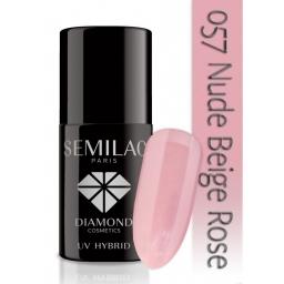 Lakier hybrydowy Semilac 057 Nude Beige Rose - 7 ml