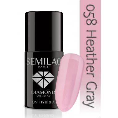 Lakier hybrydowy Semilac 058 Heather Gray - 7 ml