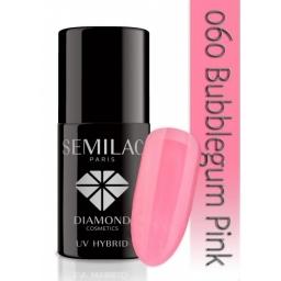 Lakier hybrydowy Semilac 060 Bubblegum Pink - 7 ml