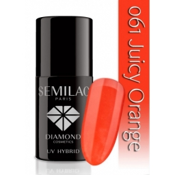 Lakier hybrydowy Semilac 061 Juicy Orange - 7 ml