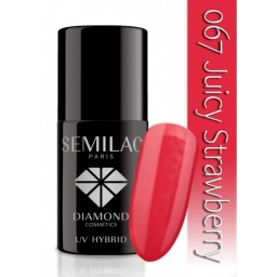 Lakier hybrydowy Semilac 067 Juicy Strawberry - 7 ml