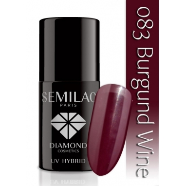 Lakier hybrydowy Semilac 083 Burgundy Wine - 7 ml