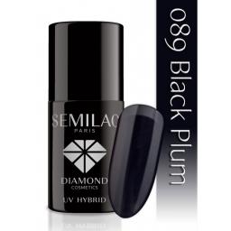 Lakier hybrydowy Semilac 089 Black Plum - 7 ml