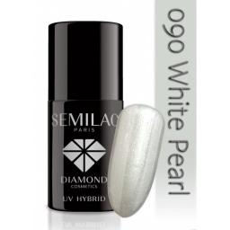 Lakier hybrydowy Semilac 090 White Pearl - 7 ml