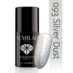 Lakier hybrydowy Semilac 093 Silver Dust - 7 ml