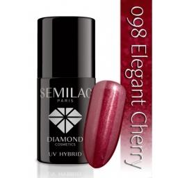 Lakier hybrydowy Semilac 098 Elegant Cherry - 7 ml