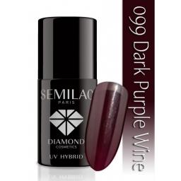 Lakier hybrydowy Semilac 099 Purple Wine - 7 ml