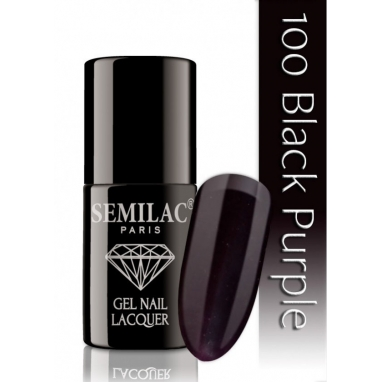 Lakier hybrydowy Semilac 100 Black Purple - 7 ml