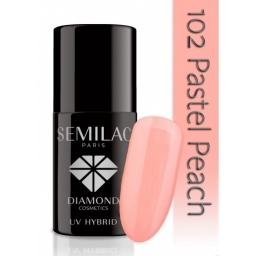 Lakier hybrydowy Semilac 102 Pastel Peach - 7 ml