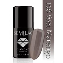 Lakier hybrydowy Semilac 106 Wet Marengo - 7 ml