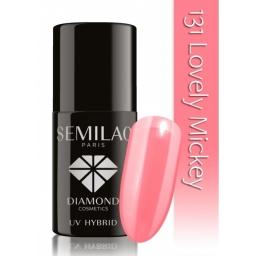 Lakier hybrydowy Semilac 131 Lovely Mickey - 7 ml