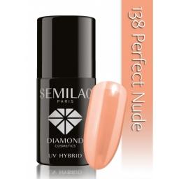 Lakier hybrydowy Semilac 138 Perfect Nude  - 7 ml