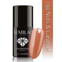 Lakier hybrydowy Semilac 139 Nuts & Carmel - 7 ml