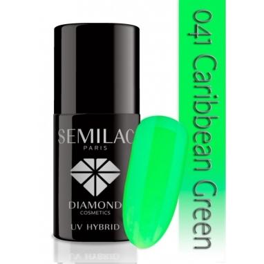 Lakier hybrydowy Semilac 041 Caribbean Green - 7 ml