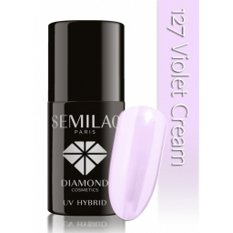Lakier hybrydowy Semilac 127 Violet Cream - 7 ml