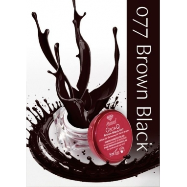 Żel UV kolor GeltaQ 077 Brown Black