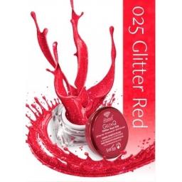025 Kolorowy lakier żelowy UV Semilac Glitter Red