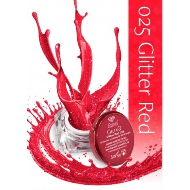 Żel UV kolor GeltaQ 025 Glitter Red