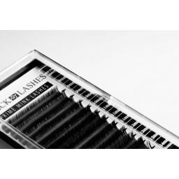 Mix 12 Pasków. Rzęsy Objętościowe 2D-8D Profil B Grubośc 0,07 Długość 8-14mm