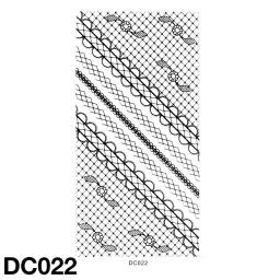 Koronkowa naklejka samoprzylepnaDC022 czarna
