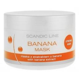 maska bananowa, każdy rodzaj włosów, szczególnie włosy łamliwe i trudne do rozczesywania, 250 ml