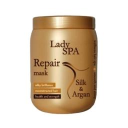 Lady Spa Silk & Argan Repair Maska  Maska do włosów jedwab i argan 1 Litr