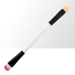 Pędzelek z pacynką - biało-czarny (różowe włosie) - 1szt.