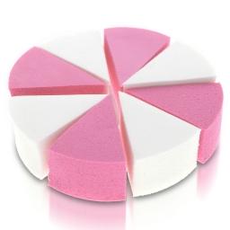 18c  Lateksowe gąbki do makijażu - białe/różowe - 8 szt.