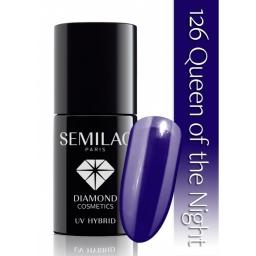 . Lakier hybrydowy Semilac 126 Queen of the Night - 7 ml