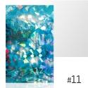 LASER EFFECT - NAKLEJKA SAMOPRZYLEPNA Nr 11 ARKUSZ 8CM x 5CM.