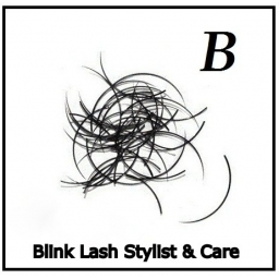 Rzęsy Jedwabne  Blink Lash Stylist & Care. Profil B. Grubość 0,20. Długość 14