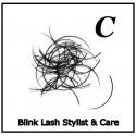 Rzęsy Jedwabne  Blink Lash Stylist & Care. Profil C. Grubość 0,20. Długość 10 mm