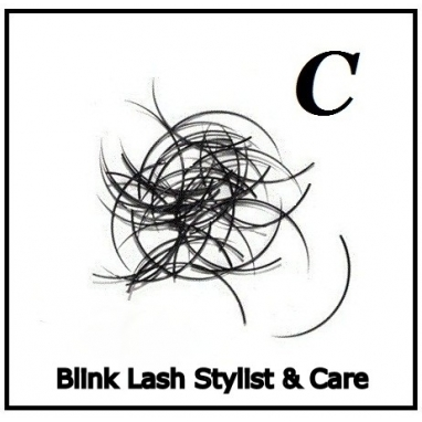 Rzęsy Jedwabne  Blink Lash Stylist & Care. Profil C. Grubość 0,25.. Długość 15 mm