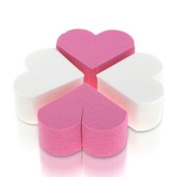 26a. Lateksowe gąbki do makijażu - białe/różowe - 8 szt.