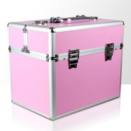Kuferek rozkładany jednoczęściowy na lampę LCD - różowy gładki